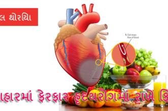 આહાર માં ફેરફાર હૃદયરોગ માં રાખે ફિટ